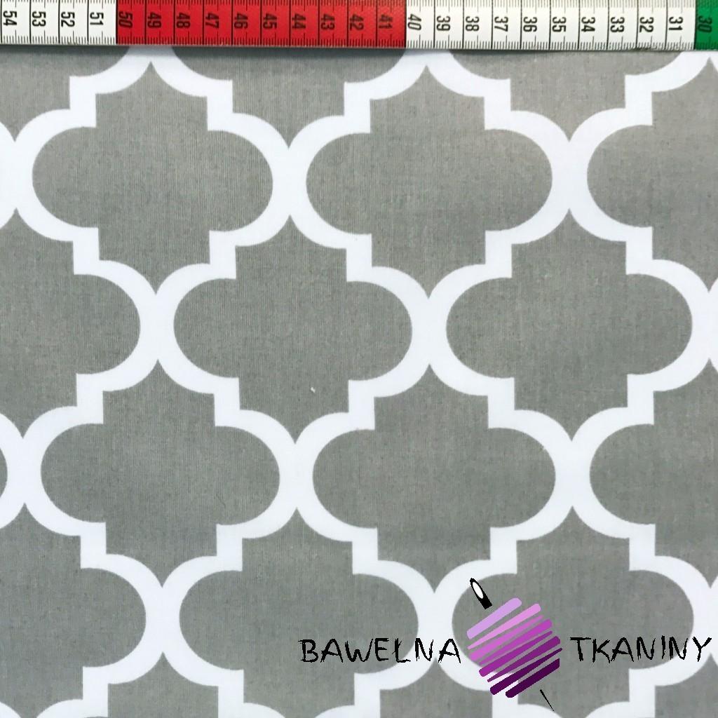 Bawełna wzór Maroko duże szare
