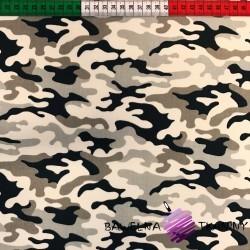 Bawełna wzór MORO piaskowy