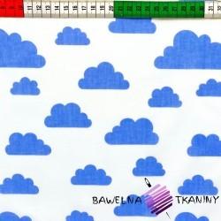 Bawełna chmurki niebieskie białe tło