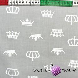 Bawełna białe korony szare tło