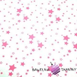 Bawełna galaktyka mała różowa na białym tle