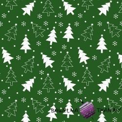 Bawełna choinki zielone