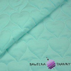 velvet mint quilted in hearts