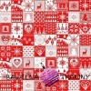 Cotton Christmas pattern patchwork red and white