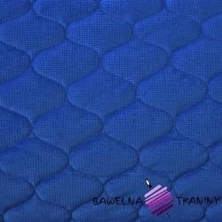 Velvet pikowany szafirowy - bączki
