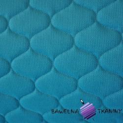 Velvet pikowany niebieski - bączki