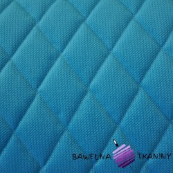 velvet blue quilted in diamonds