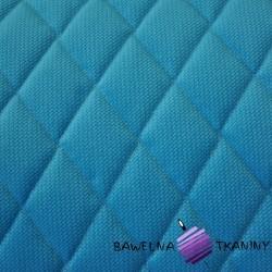 Velvet pikowany niebieski - romby