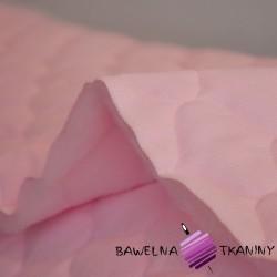 Velvet pikowany jasny róż - bączki