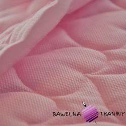 Velvet pikowany jasny róż - serduszka