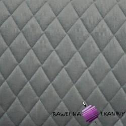 Velvet pikowany ciemny szary - romby