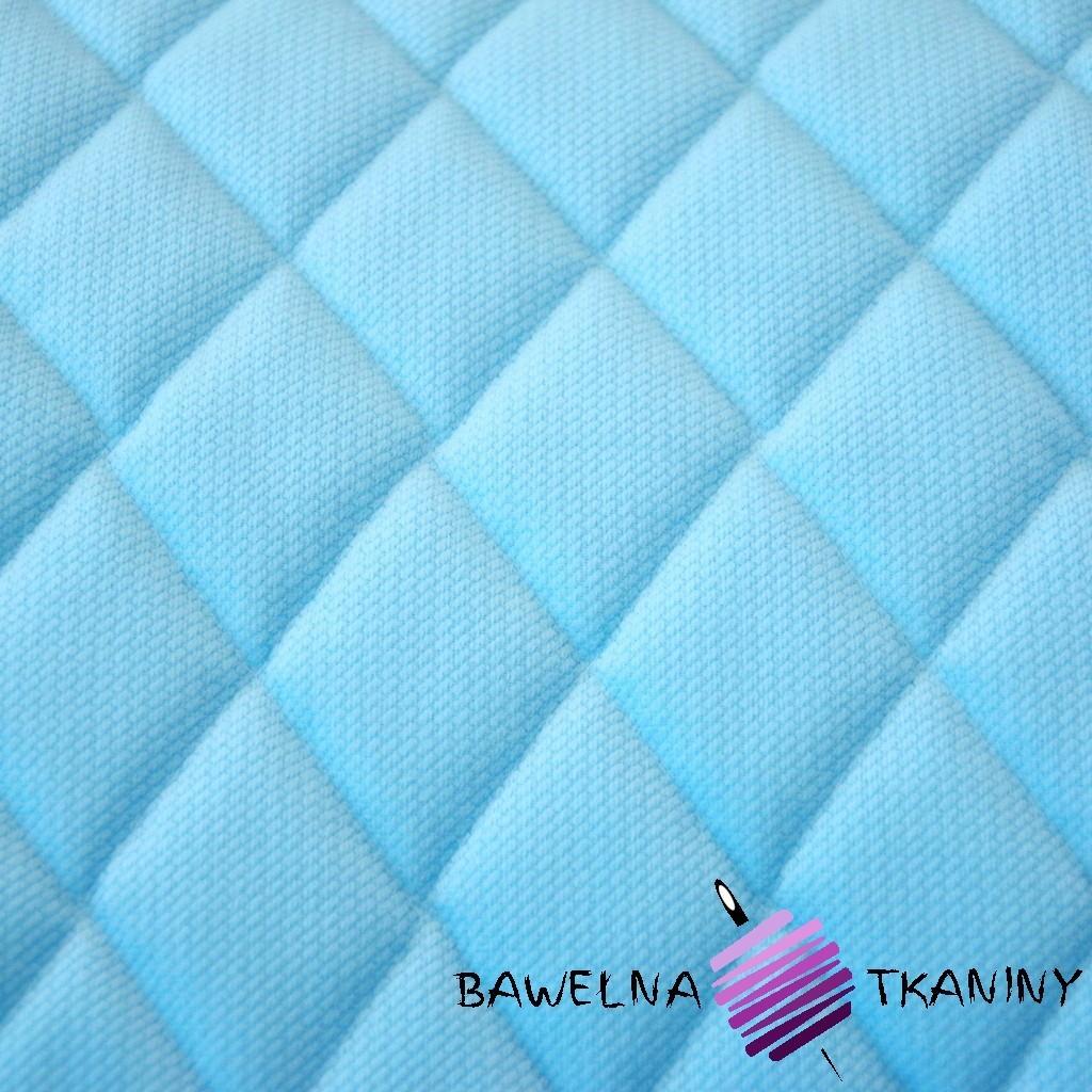 Velvet pikowany błękitny - romby