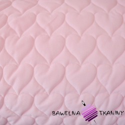 velvet light pink quilted in hearts