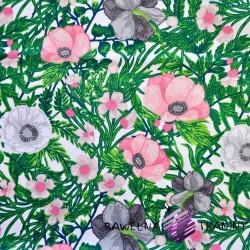 Bawełna maki na zielonej łące