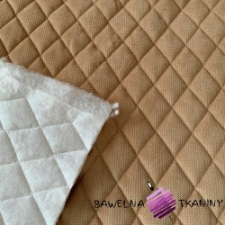 velvet beige quilted in diamonds