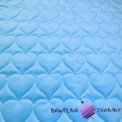 velvet blue quilted in hearts