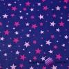 Bawełna gwiazdki nowe małe i duże różowe ciemne i jasne na granatowym tle