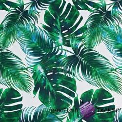 Curtain Cotton palms leaves 150cm DIAMOND - black out