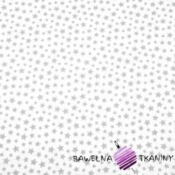 Cotton MINI gray stars on white background