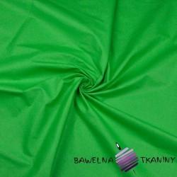 Bawełna gładka zielona trawiasta