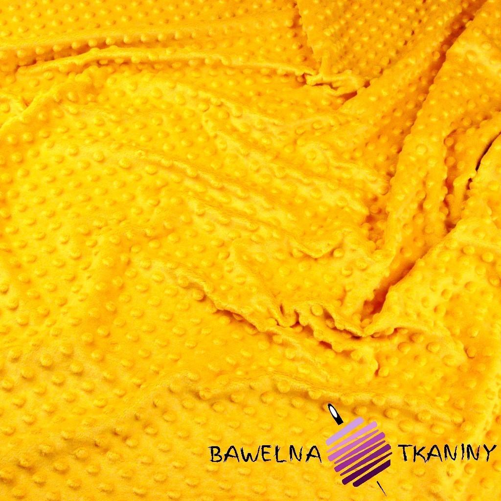 Minky Premium ciemny żółty