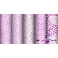 Bawełna kalejdoskop różowy