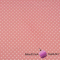 Cotton white dots on a coral background