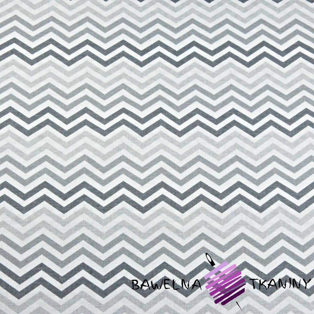 Cotton MIDI gray & graphite zigzag