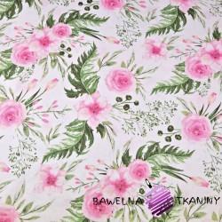 Bawełna kwiaty eustoma różowa na białym tle