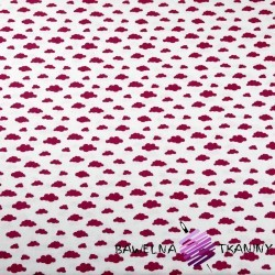 Cotton MINI burgundy clouds on white background