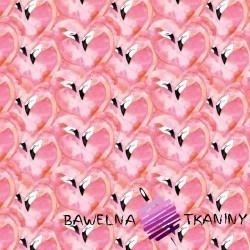 Cotton pink flamingos heart