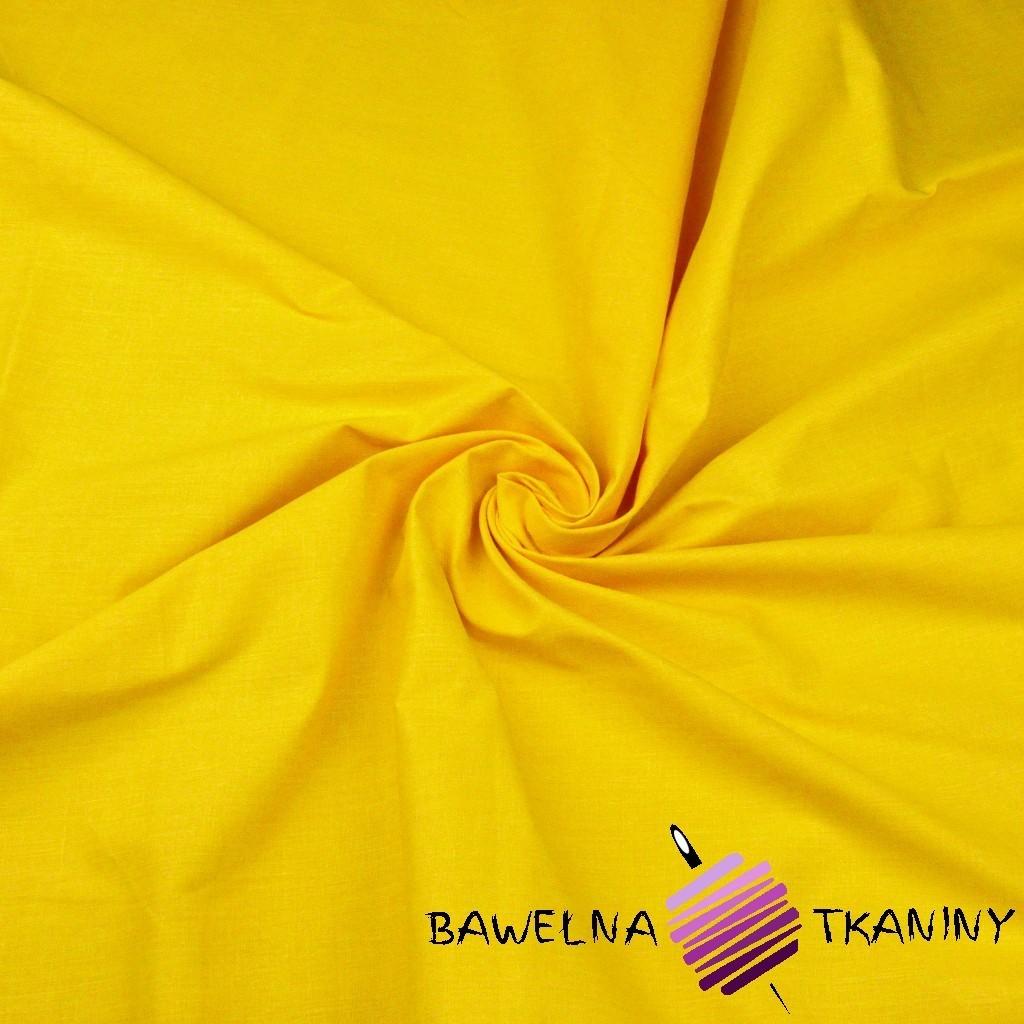 Bawełna gładka żółta