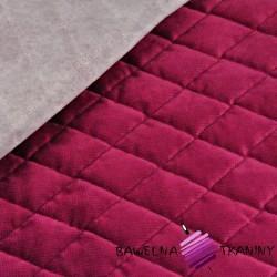 Velvet pikowany buraczkowy - romby