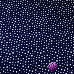 Bawełna gwiazdki MINI białe na granatowym tle