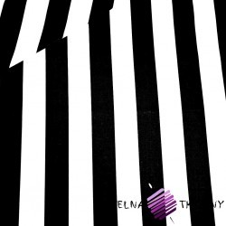 Cotton black & white 6cm stripes