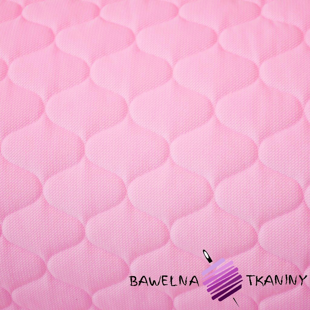 Velvet pikowany różowy - bączki