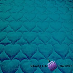 velvet lazure quilted in hearts