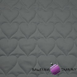 velvet dark gray quilted in hearts