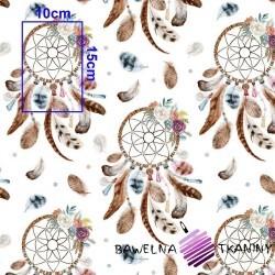 Bawełna łapacz snów brązowy na białym tle