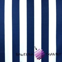 Bawełna stripes navy
