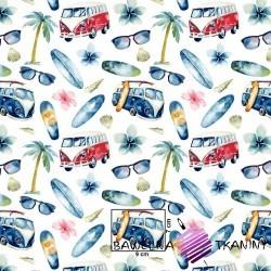 Bawełna samochody wakacyjne na białym tle