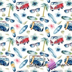 Cotton holiday cars on white background