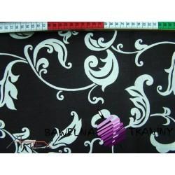 Bawełna ornament brązowe tło