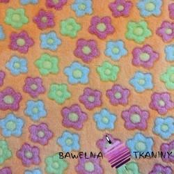 Polar plus kwiatki kolorowe na pomarańczowym tle