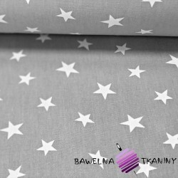 Curtain Fabric printed white stars on gray background
