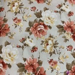 Bawełna  kwiaty CANVAS28