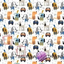 Cotton blue-orange doggies on a white background