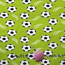 Bawełna Piłki na zielonym tle