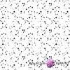 Bawełna konstelacja czarna na białym tle