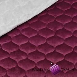 Velvet pikowany burgundowy 32 - bączki